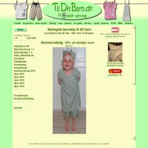 Organic Clothes For Children from Til Dit Barn.dk