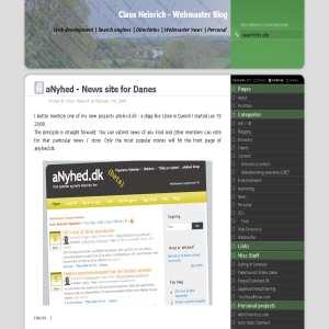Webmaster Blog - Claus Heinrich