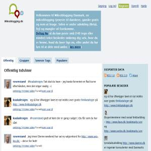 Mikroblogging Denmark