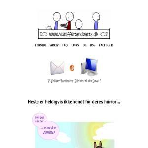 Free Danish webcomic at visniffertandpasta.dk