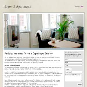 Furnished apartments for rent in Copenhagen