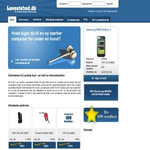 Lavestebud.dk - auktioner på internettet