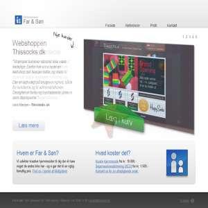 Websites from Far & Søn Web Agency
