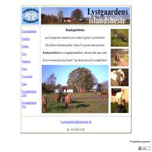 Farmhouse holidays - lystgaarden.dk