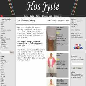 Plus size clothing at Hosjytte.dk