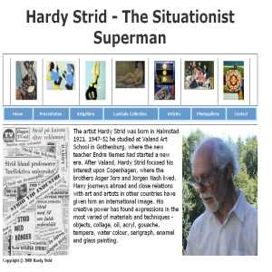 Hardy Strid - The Situationist Superman - art, kunst, konst, biography, gallery, situationism, Nemes, Jorn, Nash, dadaism