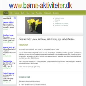 Family site, with games, activitites & danish traditions