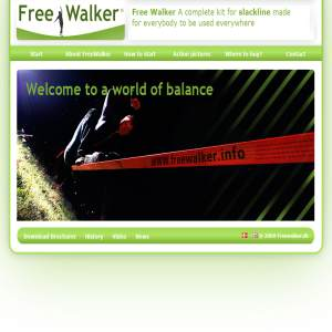 Freewalker makes slackline available for everybody everywhere.