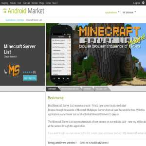 Minecraft Server List App for Android