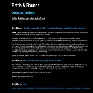 Battle & Bounce - Creative Brand Positioning