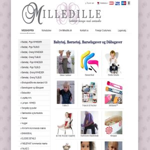 Childrens clothes from Milledille.dk