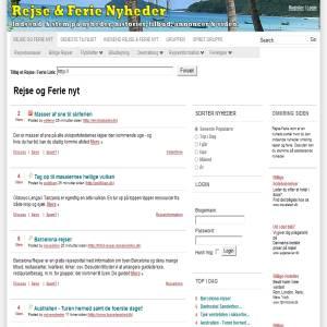 Ferie & Rejser News Site