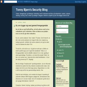 Tonny Bjørns Security Blog