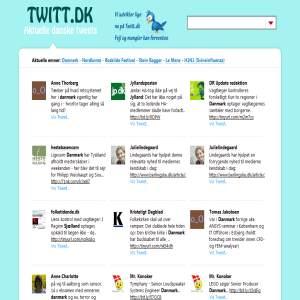 Twitt.dk - Danish Tweets