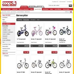Børnecykel billigt