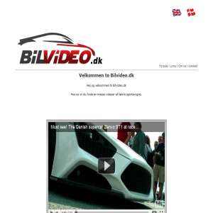 Watch original videos with super cars at Bilvideo.dk