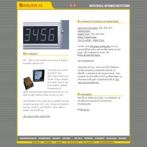 Instrumeter: LED Display - Industri PC - Truckterminal