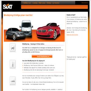SIXT Biludlejning