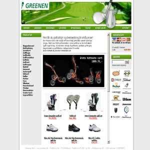 Golfequipment at Greenen.dk