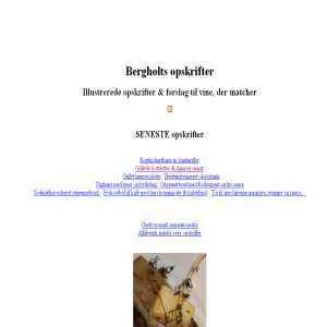 Bergholts recipes